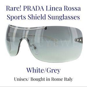 RARE PRADA LINEA ROSSA SPORTS SHIELD SUNGLASSES